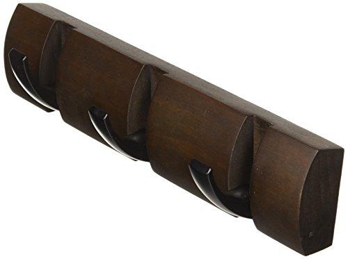 Umbra Flip 3-Hook, Black/Walnut