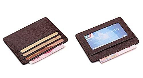 Cardholder aus samtweichem, europäischem Leder mit Platz für sechs Kreditkarten, Card Holder Kreditkartenhalter Kartenetui Kreditkarte Kartenhalter kaffeebraun
