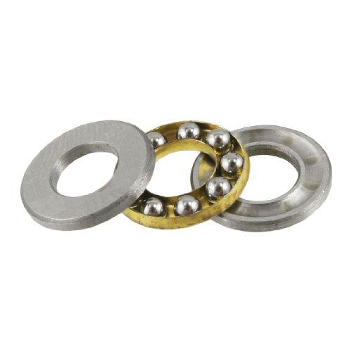 - uxcell a12071000ux0781 12mm x 6mm x 4.5mm Silver Tone Metal Ball Thrust Bearing, 0.24 Metal