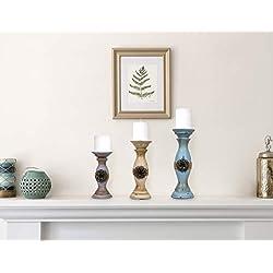 Besti Vintage Pillar Candle Holders (3-Piece Set)