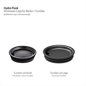 Hydro Flask BPA Free Honeycomb Insulated 22 oz Tumbler & 10 oz Rocks Press-in Lid, Black