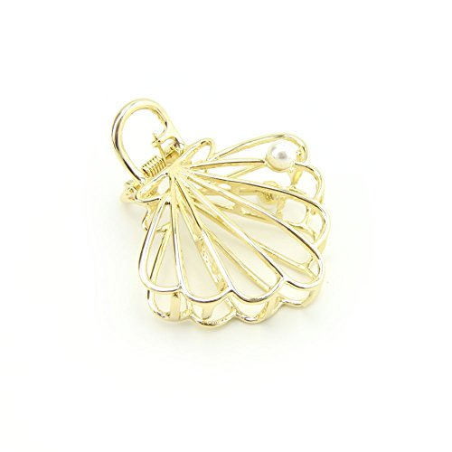 Meilliwish New Style Pearl Hollow Beautiful Hair Claw Clip for Women ()