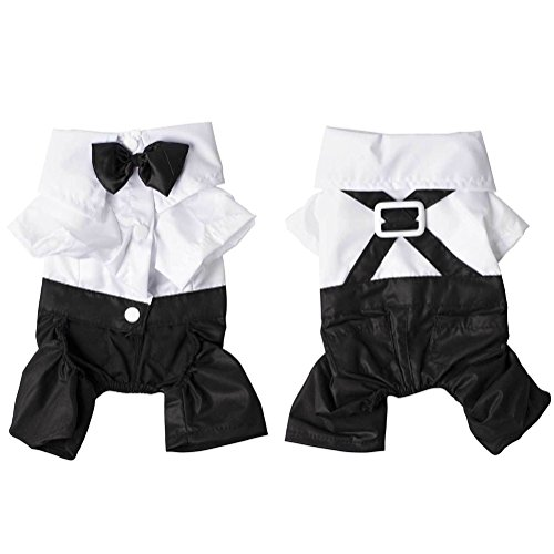 Hot 4 sizes Dog Pet Puppy Clothes Tuxedo Shirt Suit