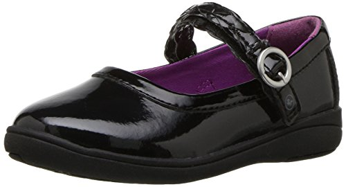 - Stride Rite Girls' Brielle Mary Jane Flat Black Patent 9.5 M US Toddler