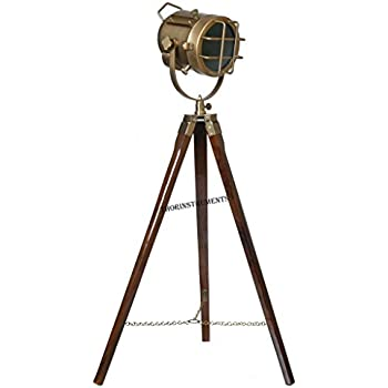Antique designers searchlight floor lamp tripod lighting antique designers searchlight floor lamp tripod lighting searchlight spotlight mozeypictures Images