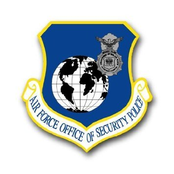 Homeland Security Seal - US Air Force Security Police Decal Sticker 3.8