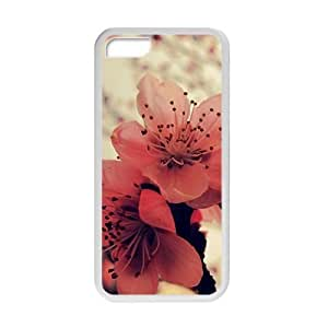 Attractive red flowers personalized creative custom protective phone HTC One M7