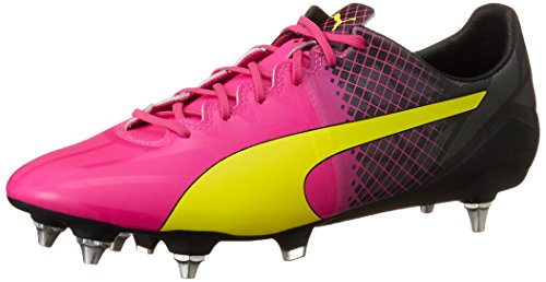 Puma Evospeed 1.5 Tricks Mixed Sg - Botas de fútbol Hombre Rosa - Pink (pink glo-safety yellow-black 01)