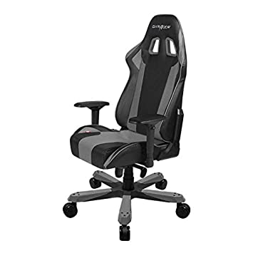 DXRacer OH KS06 NG King Series Black and Gray Gaming Chair – Includes 2 Free Cushions