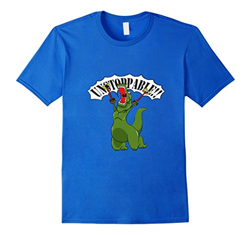 Men's Unstoppable training T rex T shirt funny sarcasm XL Royal Blue (Dinosaur Costume Adults Realistic)