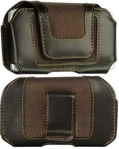 Bloutina Leather Case Pouch Velcro Closure Brown For Pantech Crossover