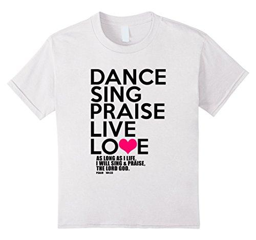 Kids Dance, Sing, Praise - Psalm 104 Christian (Black) T-...