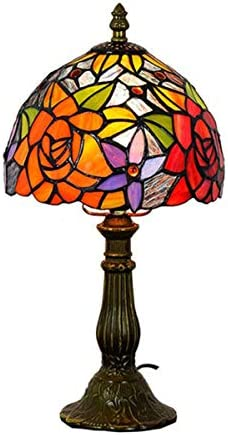 JEANN WSLamp Tiffany table lamp stained glass and multi