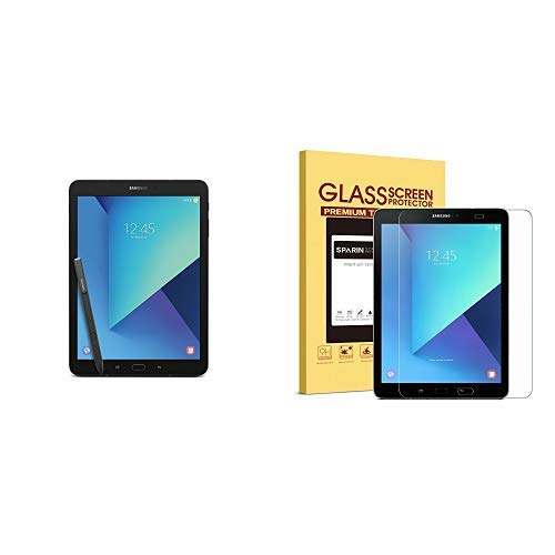 Samsung Galaxy Tab S3 9.7-Inch, 32GB Tablet (Black, SM-T820NZKAXAR) and SPARIN Galaxy Tab S3 / Galaxy Tab S2 9.7 Screen Protector - S Pen Compatible by Samsung (Image #2)