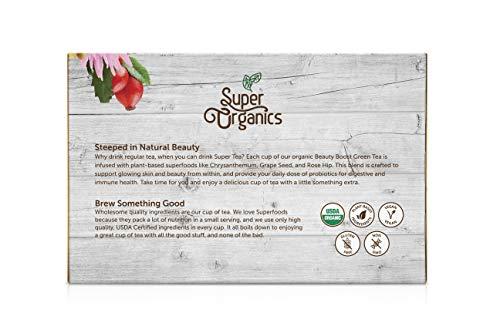 Super Organics Beauty Boost Green Tea Pods With Superfoods & Probiotics   Keurig K-Cup Compatible   Beauty Tea, Skin Care Tea   USDA Certified Organic, Vegan, Non-GMO Natural & Delicious Tea, 72ct by Super Organics (Image #8)
