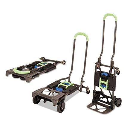 Cosco Shifter 300-Pound Capacity Multi-Position Heavy Duty Folding Hand Truck and Dolly Green Renewed