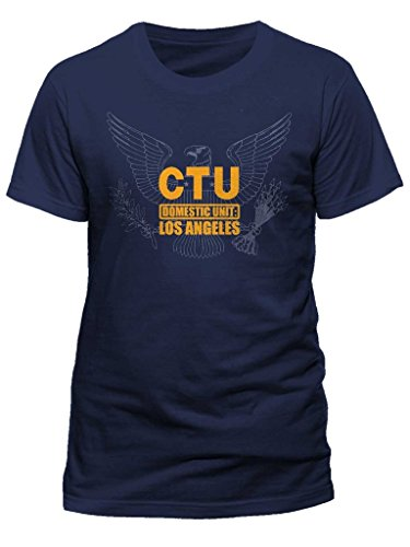AWDIP Men's Official 24 CTU Eagle T-Shirt Television Series Counter Terroist Unit (24 Ctu T-shirt)