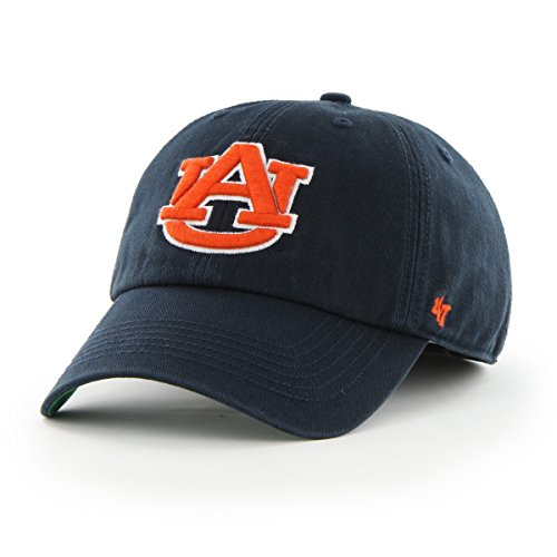 '47 NCAA Auburn Tigers Franchise Fitted Hat, Navy, Small
