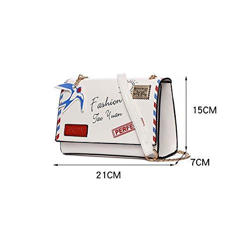 Minisommerbeutel, koreanische Version des Schulterbeutels, eine kleine frische schräge Tasche, Kursteilnehmerkettenpaket ( Farbe : Schwarz ) Schwarz