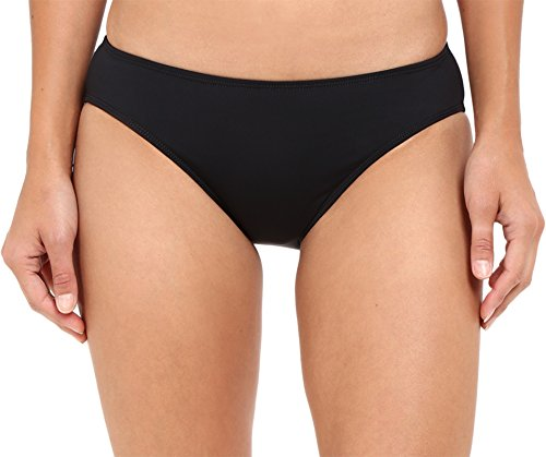 Lauren by Ralph Lauren Women's Chevron Solid Hipster Bottom Black Swimsuit Bottoms (Lined Tankini Lauren Ralph)