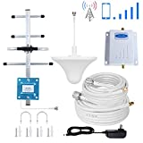 Phonelex Verizon Cell Phone Signal Booster 4G LTE 700Mhz FDD Band13 Cell Signal Booster Verizon Cell Phone Booster Amplifier Mobile Phone Signal Booster Repeater With Ceiling+Yagi Antenna Kit For Home