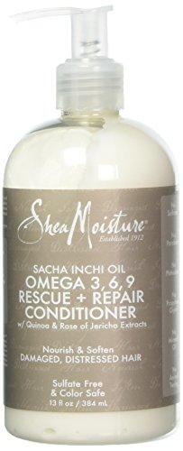 Omega 3 Repair (Shea Moisture Sacha Inchi Oil Omega-3-6-9 Rescue & Repair Conditioner for Unisex, 13 Ounce)