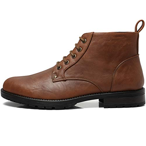 ZRIANG Men's Oxford Dress Leather Lined Round Toe Angle Boots