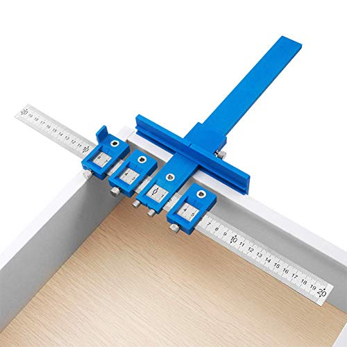 Metal Template Guide jig for Cabinet knobs pulls Handles Guide Installation SimpleJig/_448/_Combo Woodworking