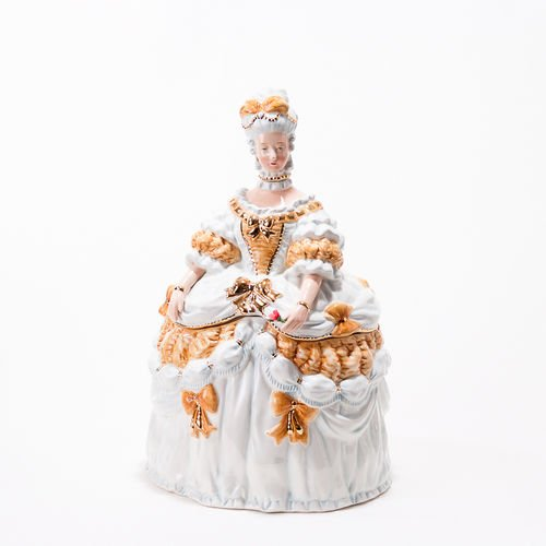 Vintage Style Marie Antoinette Cookie Jar, 14.5 Inches, Ceramic, Christmas or Everyday by 180 Degrees