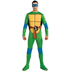 Nickelodeon Ninja Turtles Adult Leonardo and Accessories, Green, x-Large Costume