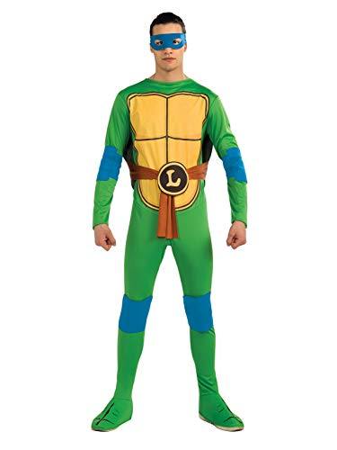 Nickelodeon Ninja Turtles Adult Leonardo and Accessories, Green, x-Large Costume]()