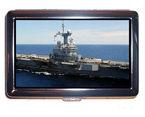 Yanteng Cigarette Case/Box, Aircraft Carrier French Aircraft Carrier Charles De Gaulle Warship Protection Credit Business Card Holder Case Multi YT 104