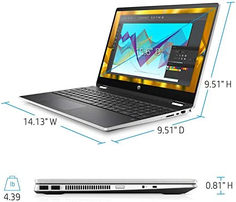 """2020 HP Pavilion 15.6"""" 2-in-1 Convertible HD Touchscreen Laptop Intel Core i5-10210U 8GB DDR4 512GB M.2 SSD Windows 10 WeeklyReviewer"""