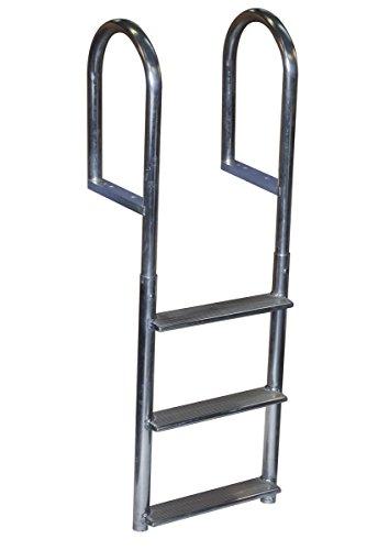 Dock Edge Welded Fixed Wide Step Dock Ladder, 3 Steps, - Ladder Dock