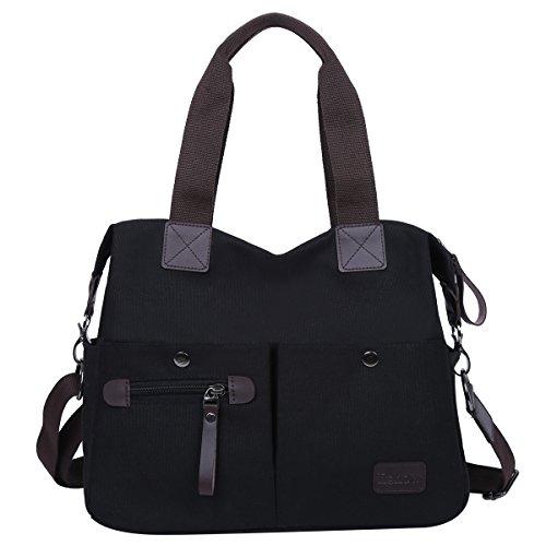 Eshow Women Canvas Hobo Handbags and Purse Shoulder Bag Cross-Body Bag Messenger Bag Travel mom bag for women by Eshow