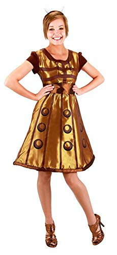 Elope Women's Doctor Who Gold Dalek Dress L/XL Gold (Halloween Costumes Dr Who)