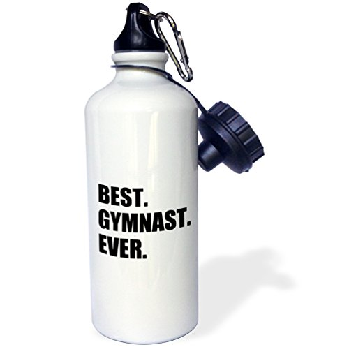 Gift for Gymnastics Athletes-Text Sports Water Bottle