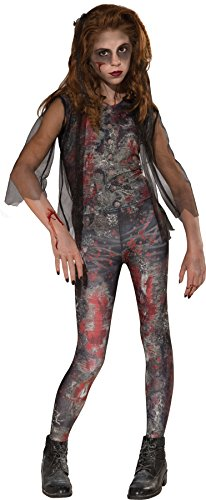 Rubie's UHC Girl's Zombie Dawn Outfit Horror Theme Fancy Dress Child Halloween Costume, Child M (8-10) -