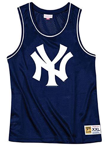 fd91d2ac417f24 Mitchell   Ness New York Yankees MLB Navy Blue Mesh Tank Top Basketball  Jers.