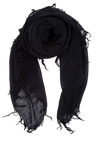 Chan Luu Women's Combo Cashmere Silk Scarf 62''x 58'' in Black by Chan Luu