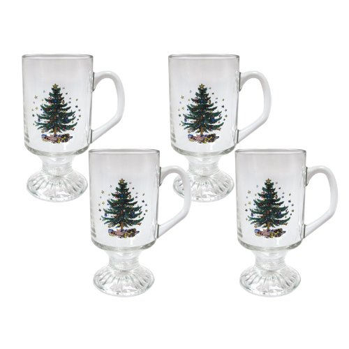Christmas Tree Glass Mugs