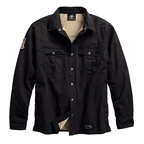 Harley-Davidson Official Men's #1 Genuine Classics Shirt Jacket, Black