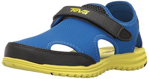 Teva Boys' Tidepool Sandal, Blue/Lime, 11 M US Little Kid