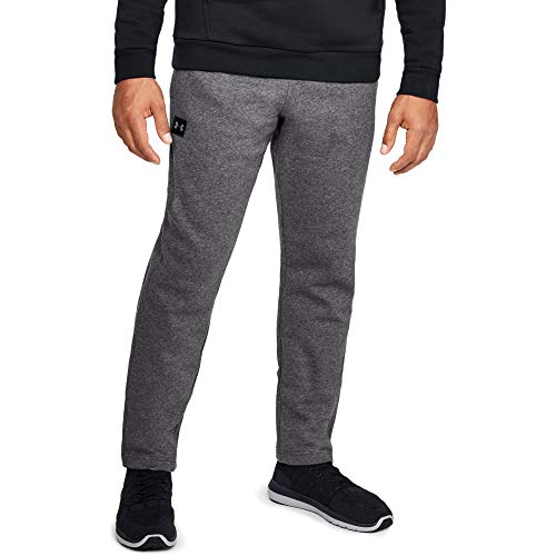 Under Armour Men's Rival Fleece Pants, Charcoal Light Heath (020)/Black, Large