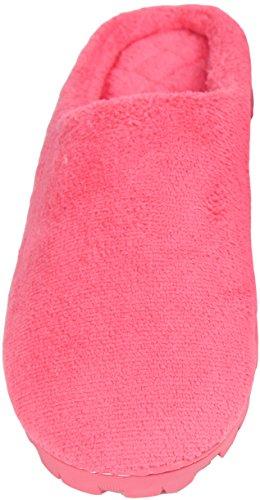LUXEHOME Mujeres Es Acogedor Coral Fleece casa Zapatillas (1-02) Rosa