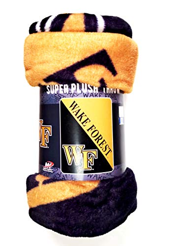 (Rico Industries, Inc. Wake Forest Demon Deacons Super Plush Micro Raschel 46x60 Super Soft Throw Blanket University of)