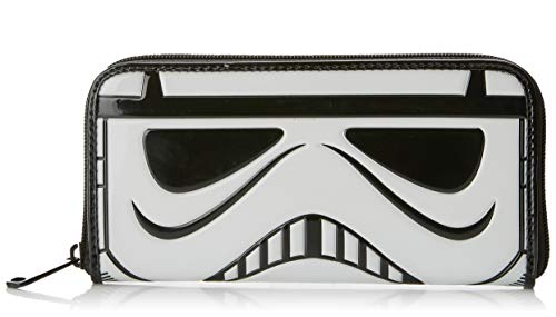 Loungefly x Star Wars Stormtrooper Patent Face Wallet,White,Large