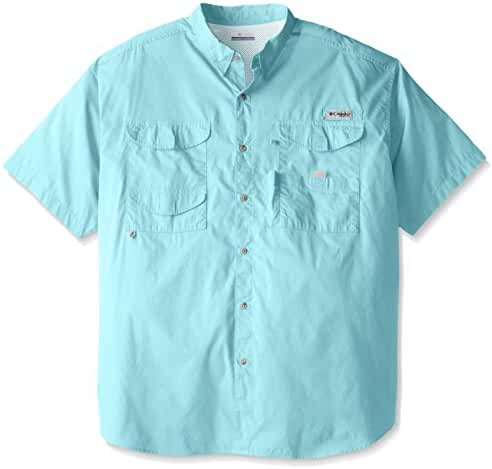 Columbia Men's Bonehead Short-Sleeve Work Shirt, Gulf Stream, 3XL