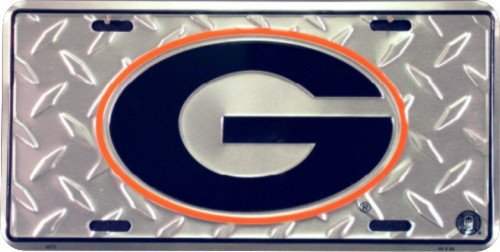 University of Georgia Diamond License Plate Tin Sign 6 x 12in
