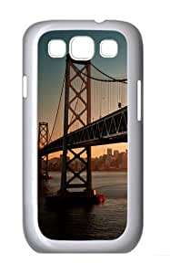 Downtown Bay Bridge Sa Polycarbonate Hard Case Cover for Samsung Galaxy S3/Samsung Galaxy I9300 White